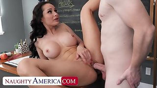 Non-standard America: Hot Russian teacher, Crystal Rush, drains her student's balls on PornHD
