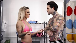 Raunchy tattooed MILF Isabelle Deltore gets a rough pussy fuck