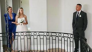 Horny bride is having lesbian sex moments winning wedding