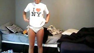 Selfshot amateur skirt relating to white bikini and as well as nude