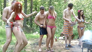 Pure wild college fucking by the lake, part 1